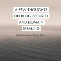 A few thoughts on blog security & domain stealing