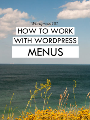 How to work with Wordpress.org menus