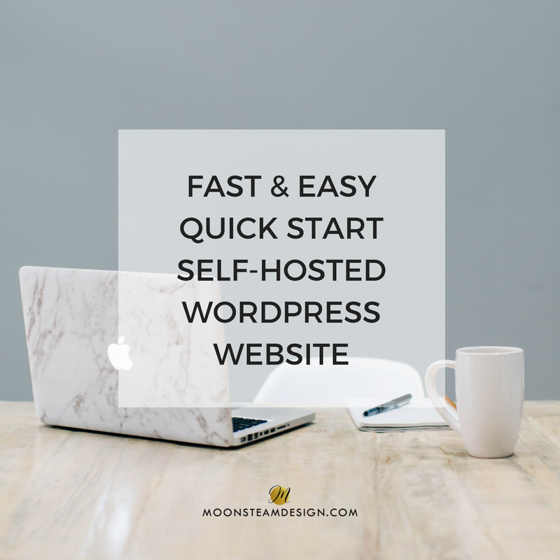 Fast and Easy Quick Start WordPress Website by Moonsteam Design