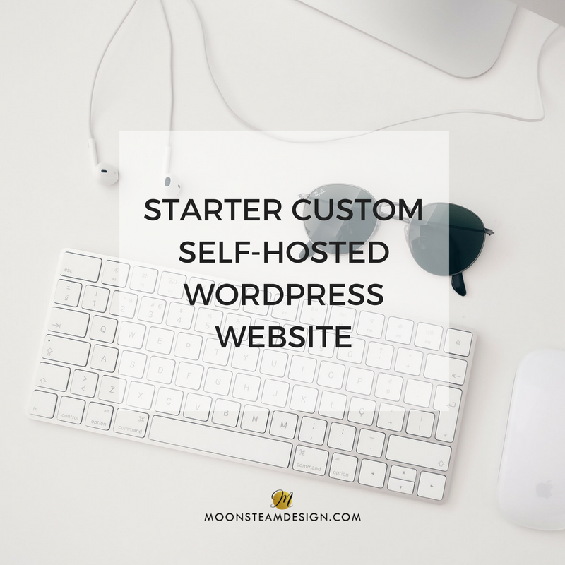 Starter Custom Self-Hosted WordPress Website by Moonsteam Design