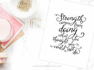 Strength Digital Art Print by Moonsteam Design