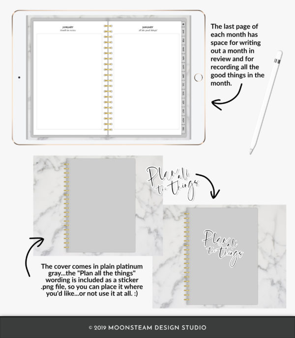 Simple Digital Planner by Moonsteam Design Studio
